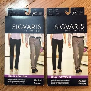 SIGVARIS X 2 NWT medical compression stockings